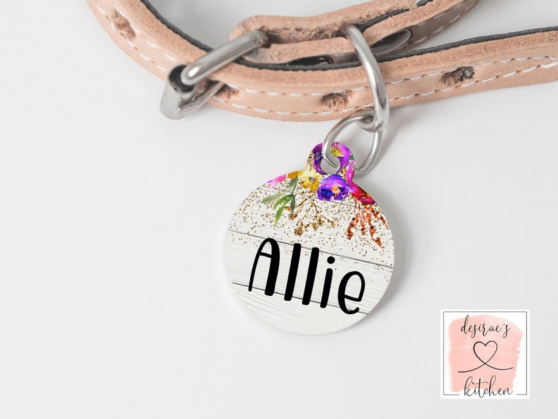 5eaee8847 Pet Name Tag Cat Kitten or Dog Tag ID Tag for Pet Dog Name   Etsy
