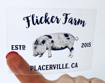 Flicker Farm Sticker