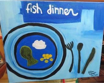 Fish dinner by L.V.