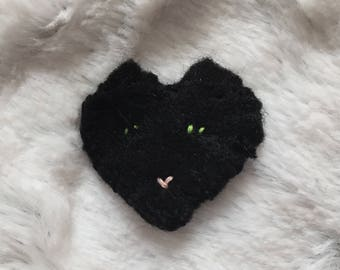 fernando (black cat) pin