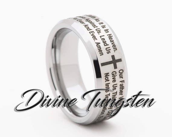 Ring Size 10 Security Jewelers Cobalt 8mm Black Laser Engraved /& Satin Finished Band Size 10