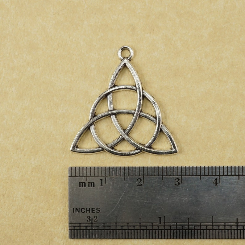 5pcs Antique Silver Large Celtic Knot Shamrock Charms Pendants Jewelry Fingings