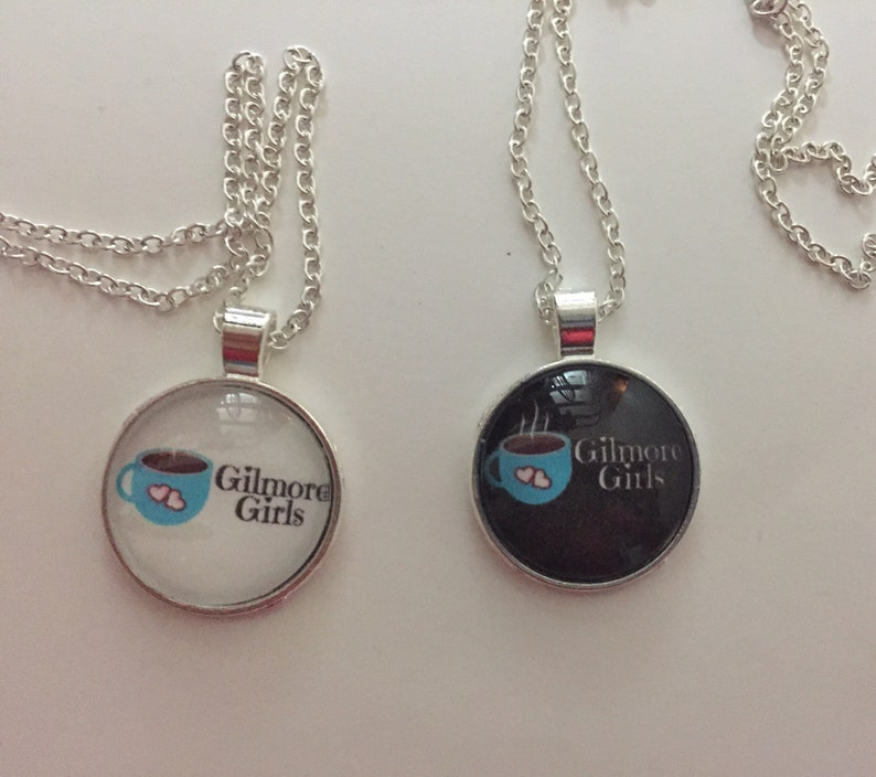 Gilmore Girls Coffee Cup black or white pendant necklace