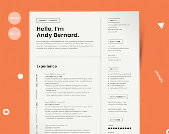 Resume template mac | Etsy