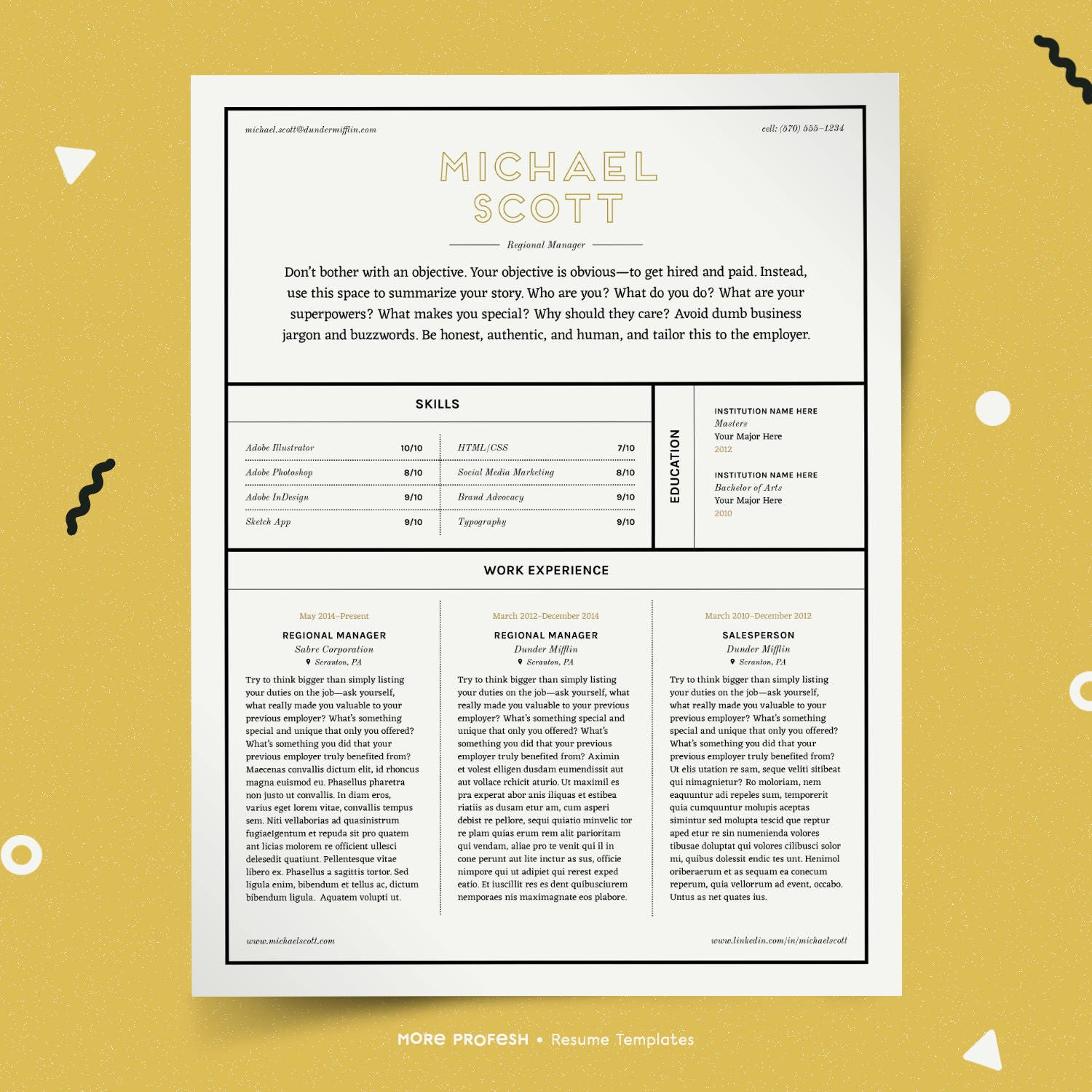 professional resume template classy resume creative resume