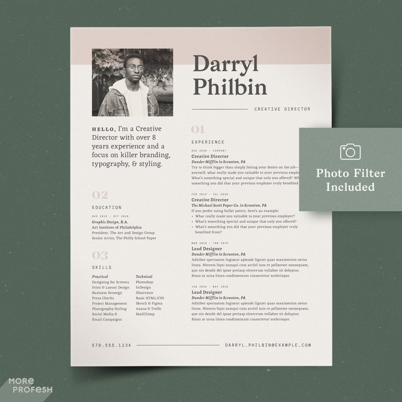InDesign Resume Graphic Designer CV Template With