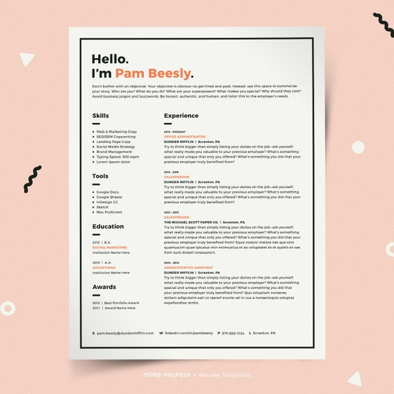 modern resume template resume for mac resume for pages