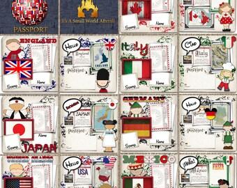 Disney's Epcot World Showcase Passport 8x8 Digital Album