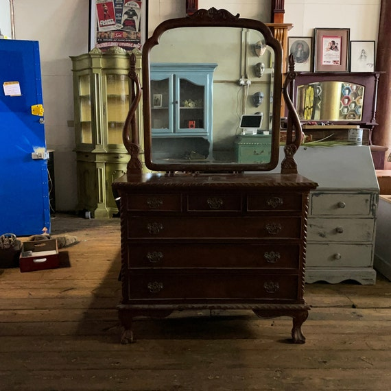 Hand painted Solid Oak dressing table will be professionally hand-painted to your style colour antique ( unpainted commission)