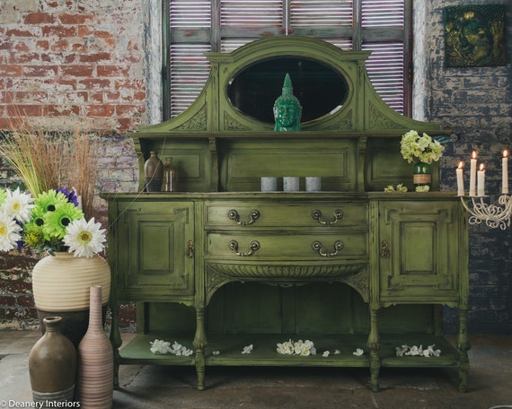 chiffonier sideboard solid oak hand painted french style