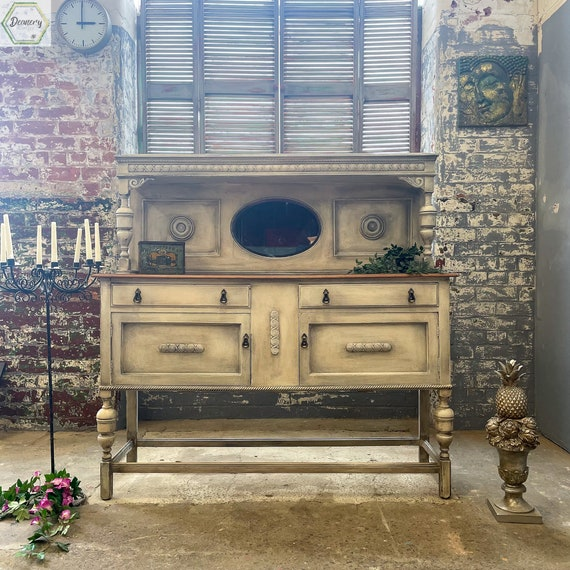Sideboard, Victorian , Antique, oak Hand Painted