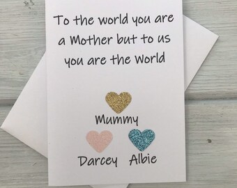 Mothers Day Card Mum And Daughter Mums Birthday New Mummy Gifts For
