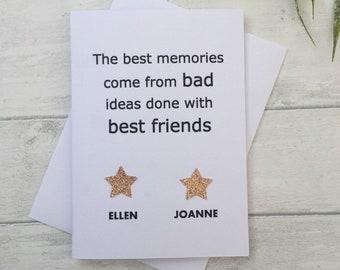 Best Friend Birthday Card Personalised Bestfriend Good Luck