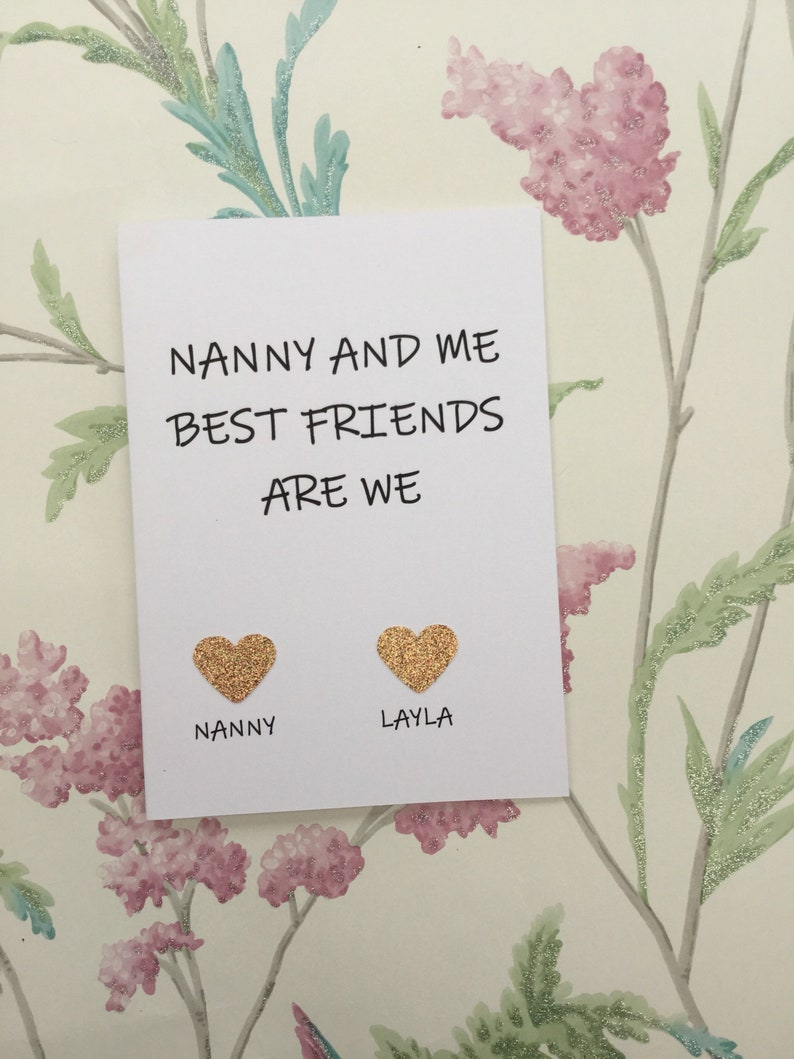 Personalised Nan Birthday Cards Nanny Birthday Card Mothers Day Card Grandma Cards Great Nan Cards Glam Ma Card Grandma Card
