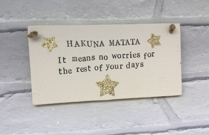 f45cec78b3c4 Hakuna Matata Lion king Disney plaque Disney quotes Family | Etsy