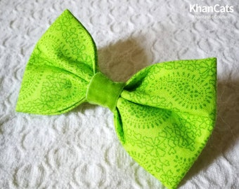 "Cat Bow Tie Bowtie for Cats and Dogs ""The Lime"""