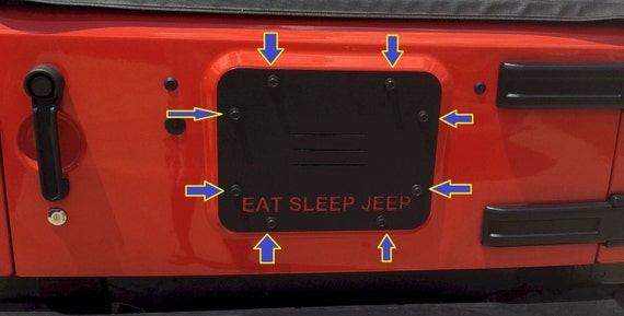 Jeep JK Replacement Spare Tire Mount Tramp Stamp Delete Plate