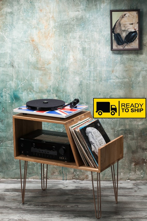Vinyl Record Storage: Vinyl Record Storage Record Player Cabinet Media Console