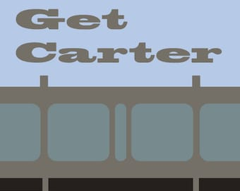 Get Carter Minimalist Movie Print (car park)