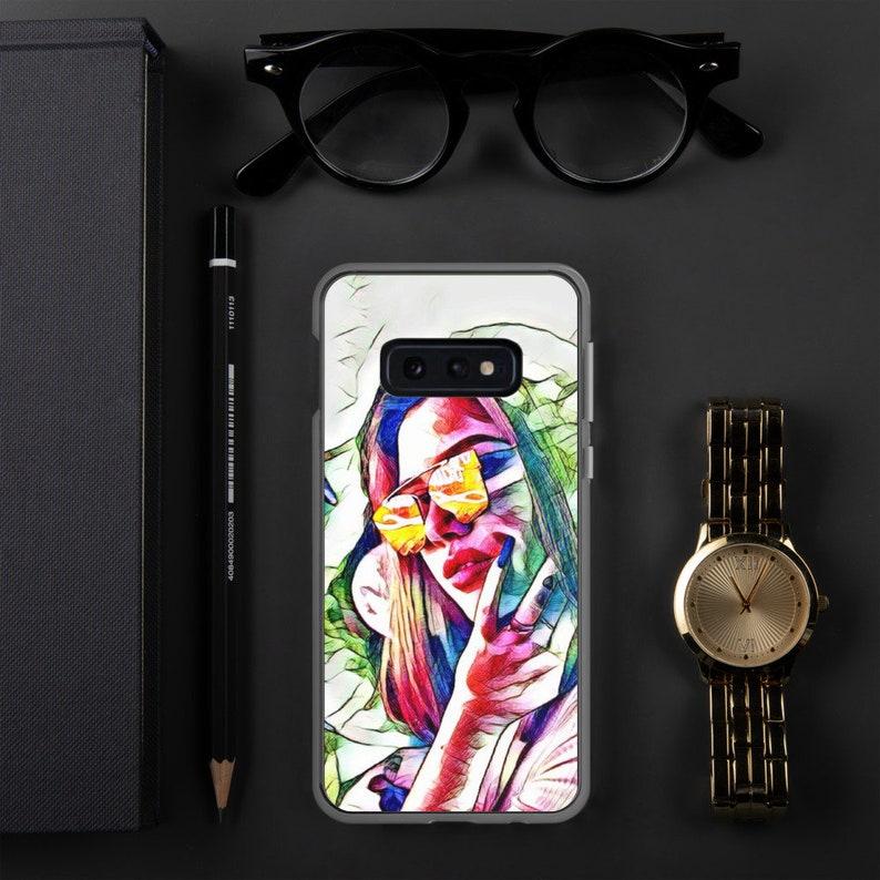 Pop Art Retro Record Girl Samsung Case