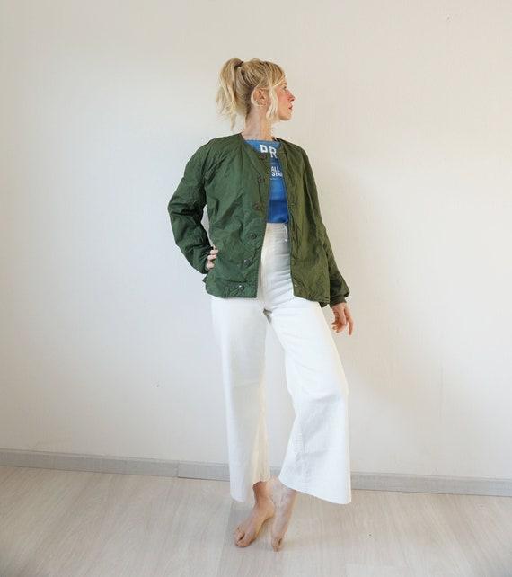Vintage Military Cotton Quilted Swedish Liner Jack