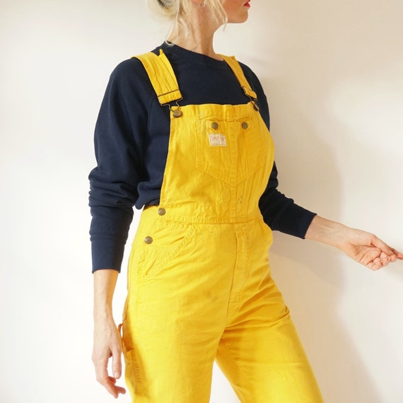 """Vintage Smith's Butter Yellow Overalls 27""""W 