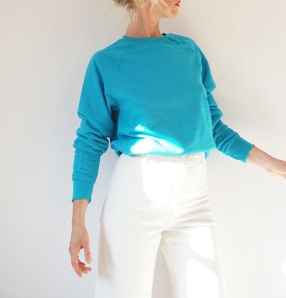 Vintage Marine Raglan Sweatshirt | 80s Deep Blue C