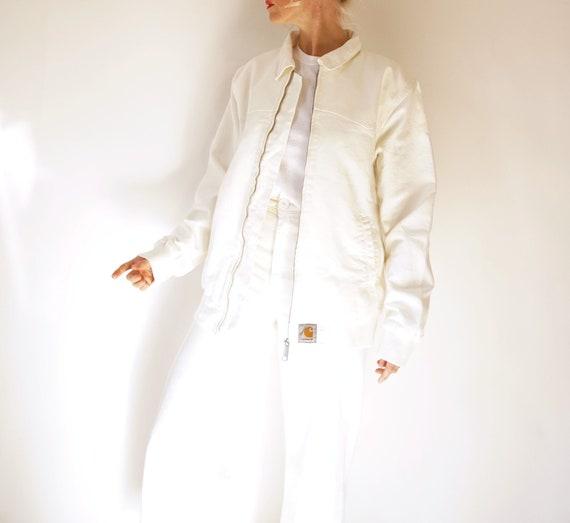 Vintage Arctic White Carhart Chore Jacket | Workwe