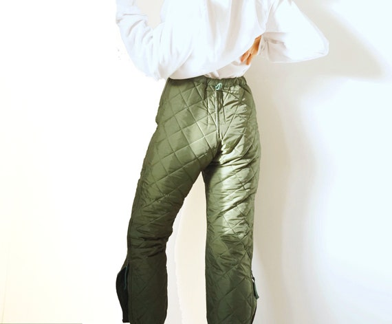 Vintage Military Quilted Liner Pants | Green Quilt