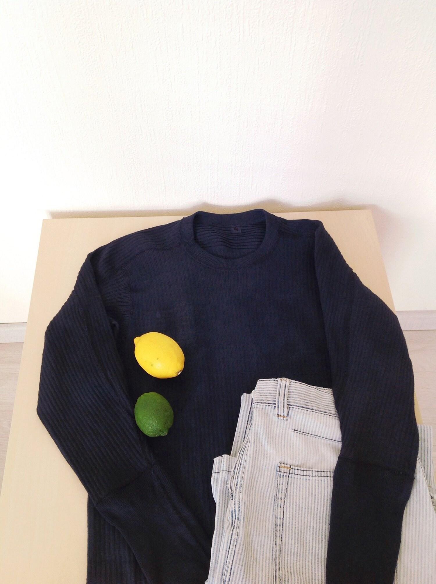 Overdye marine suédoise Vintage côte thermique   du Marine à côtes ras du   cou maillot militaire   Henley militaire en coton   Armée suédoise fb1494