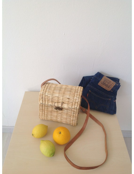 Crossbody Straw Bag | Wicker Basket | Shoulder Ree