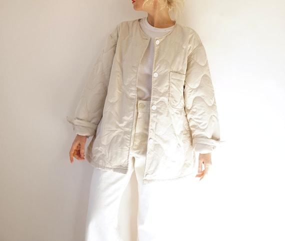 Vintage Arctic Crème Quilted Liner Jacket | Off Wh