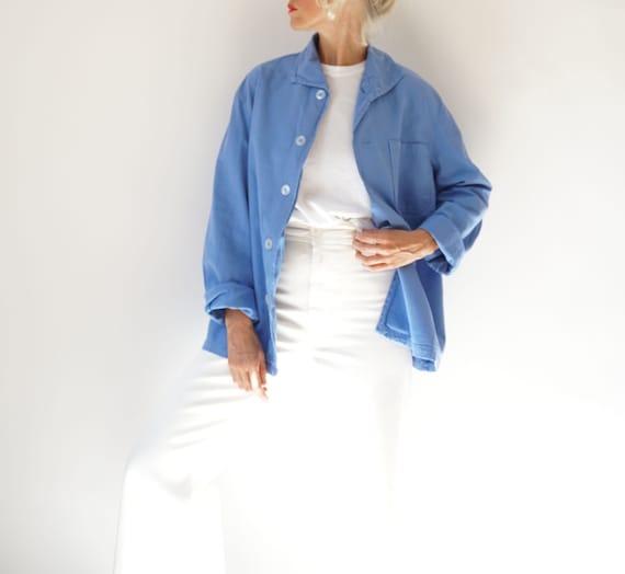 Vintage Piscine Blue Flannel Jacket Shirt | Swedis