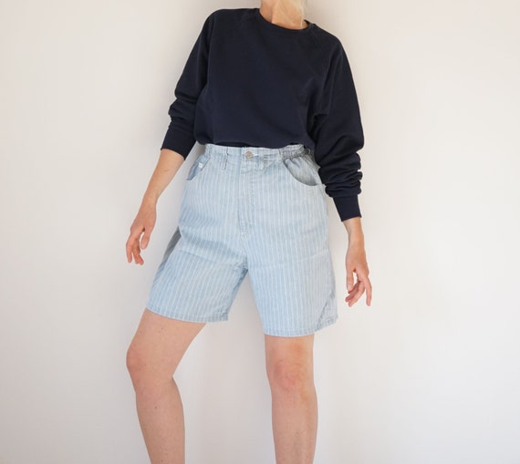 "Vintage Striped Lee 27-30"" W Denim Shorts 