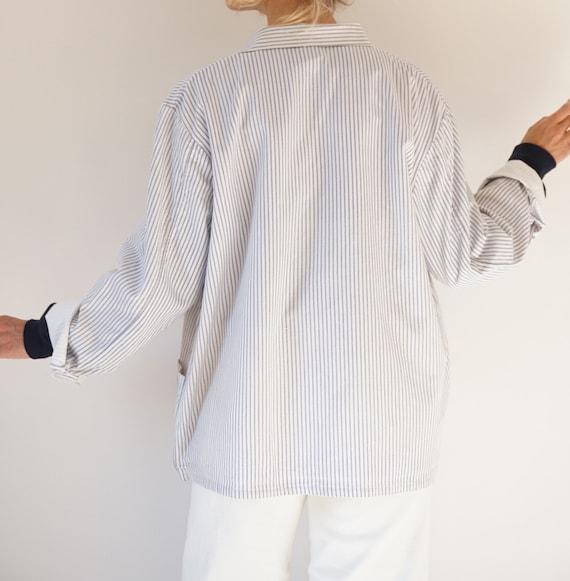 Vintage Striped Cotton Chore Jacket | Unisex Germ… - image 9