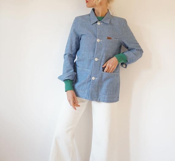 Vintage Pale Blue Carhartt Chambray Chore Jacket |