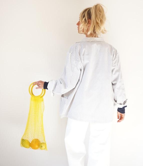 Vintage Striped Cotton Chore Jacket | Unisex Germ… - image 8