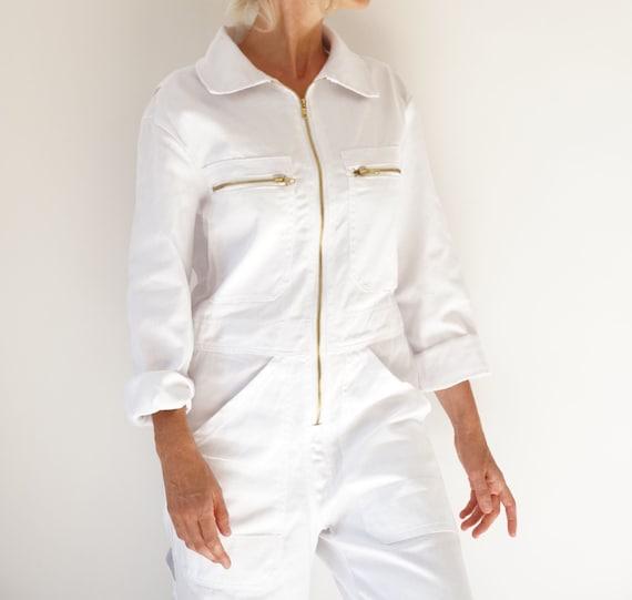 PRE-ORDER | Vintage White Cotton Coverall | Cotton