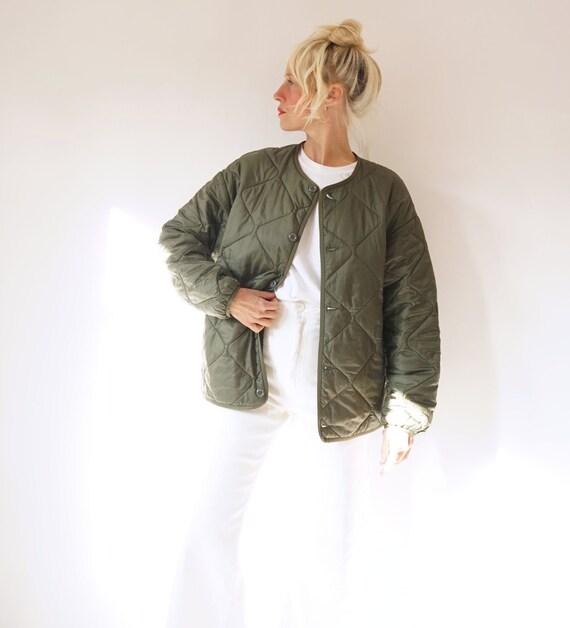 Vintage Carhartt Olive Quilted Liner Jacket Oversi