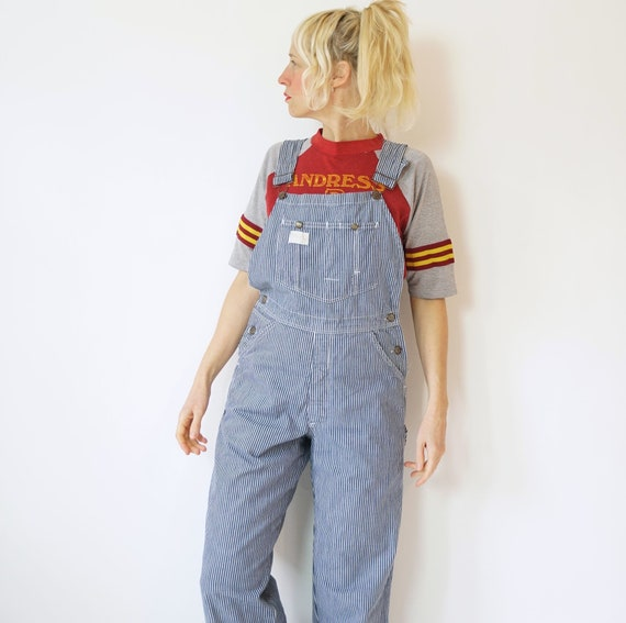 """Vintage Hickory Stripe Smiths Overalls 28"""" W 