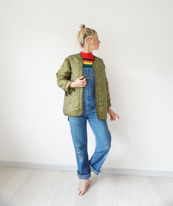 Vintage Military Quilted Liner Jacket Oversized |