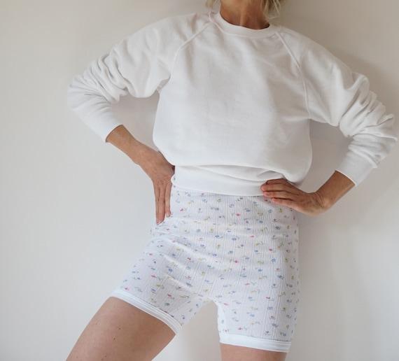 Vintage French Sweet Pea Pointelle Bike Shorts | F
