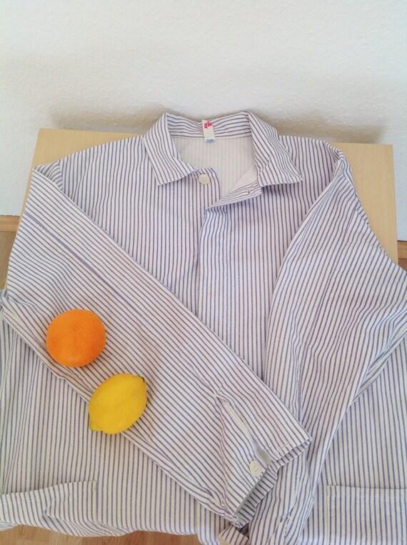 Vintage Striped Cotton Chore Jacket | Unisex Germ… - image 10