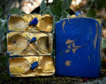 Lapis Lazuli Soap~Crystal Soap~Crystal Bar Soap~Cold Process Soap~Boho