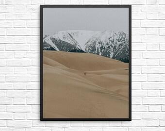 Desert print, Desert photography, Nature Print, Wilderness wall print, Sand Print, Nature photo, desert wall art, Dune Print, Digital