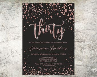 SUSANNA: Adult birthday photo invitations