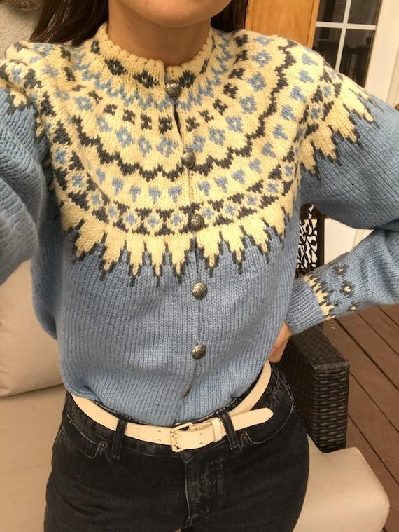 Vintage Handmade 100% wool Cardigan