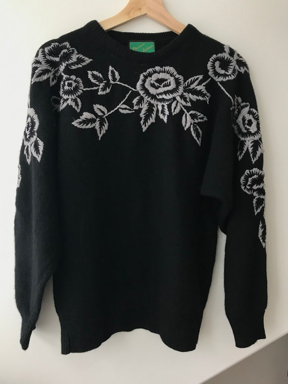 Vintage Angora Embroidered Sweater - image 2