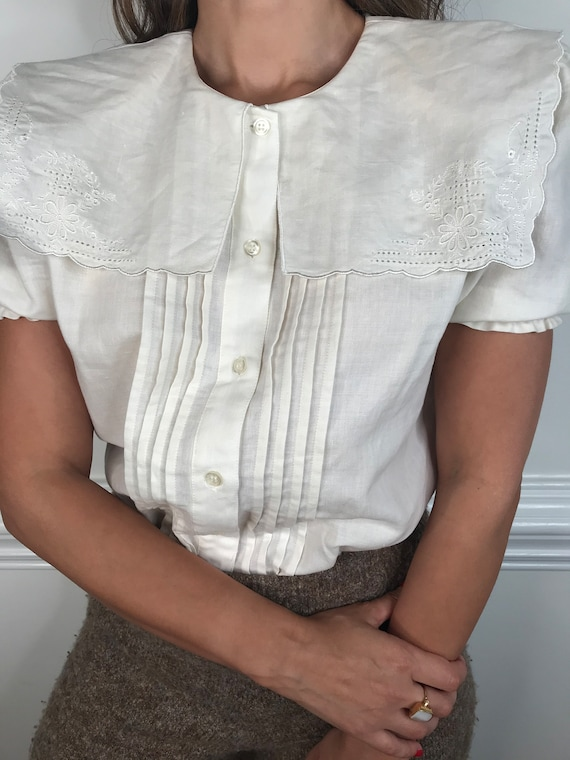 Vintage Blouse with Sailor Collar