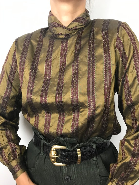 Vintage Antique Silk Blouse
